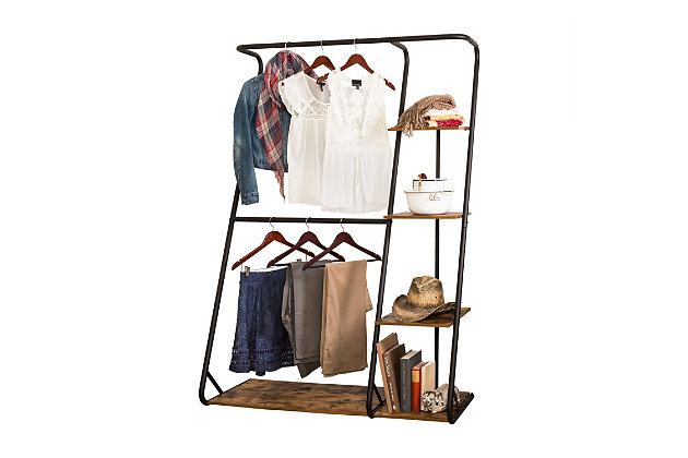 Honey Can Do Z-Frame Wardrobe with Shelves, , large