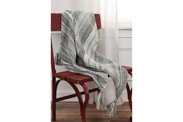 """Home Accent 50"""" x 60"""" Throw, Gray, large"""