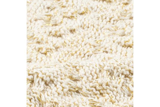 Safavieh Adara Knit Throw, Beige, large