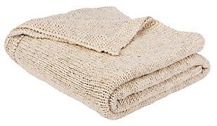 Safavieh Ralen Knit Throw, Beige, large