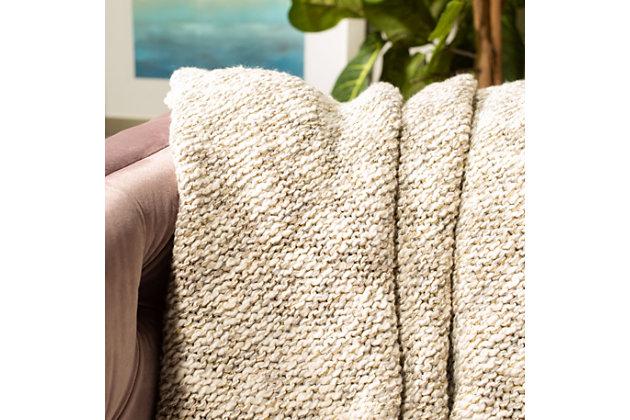 Safavieh Ralen Knit Throw, Gray, large