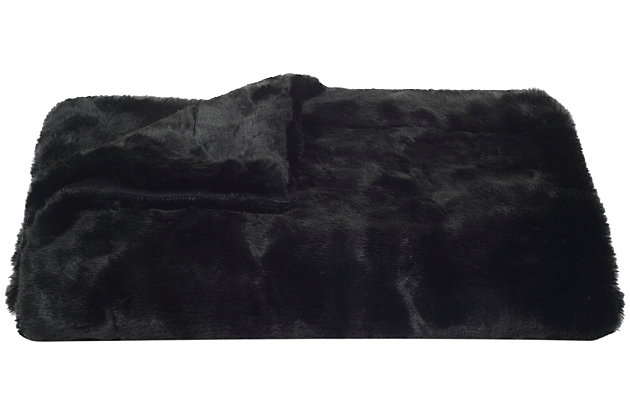 Safavieh Faux Black Mink, , large