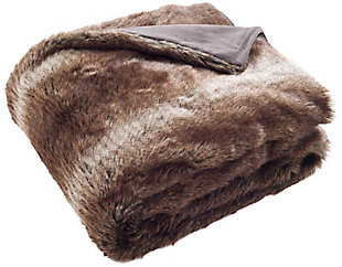 Safavieh Faux Luxe Brick Throw, Brown, large