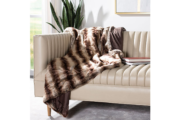 Safavieh Coco Striped Throw, Brown, large