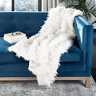 Safavieh Luxe Feather Throw, , rollover