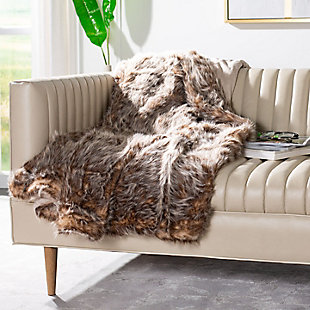 Safavieh Dusty Fur Throw, Gray, rollover