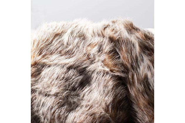 Safavieh Dusty Fur Throw, Gray, large