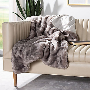 Safavieh Faux Chinchilla Throw, , large
