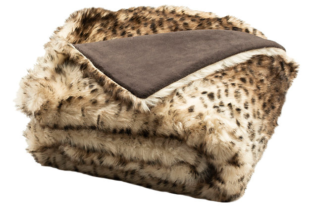 Safavieh Faux Leopardis Throw, , large