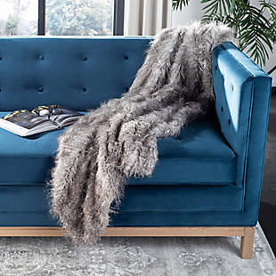 Safavieh Faux Luxe Peacock Throw, , large
