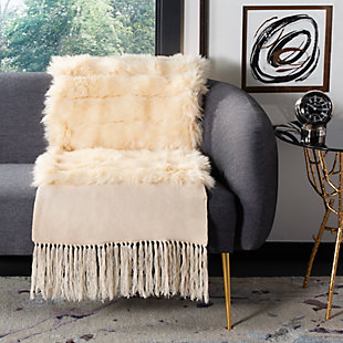 Safavieh Faux Fur Alexi 20 X 80 Bed Runner, , rollover