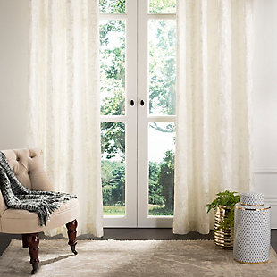 Safavieh Lerapetra 52X84 Window Panel, White, large