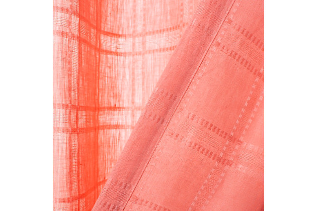 Safavieh Valari 52X84 Window Panel, Pink, large