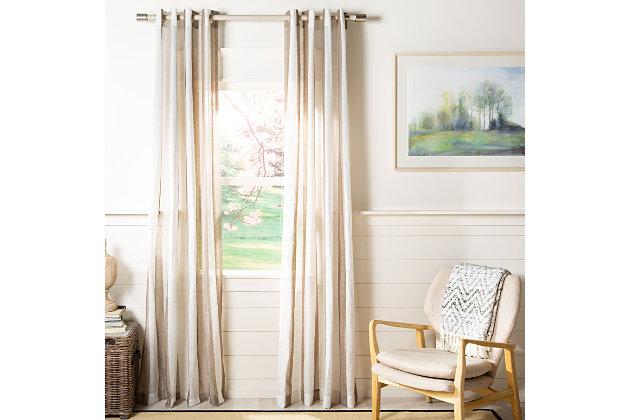 Safavieh Tallie 52X84 Window Panel, Beige, large