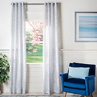 Safavieh Mila 52X84 Window Panel, Gray, large
