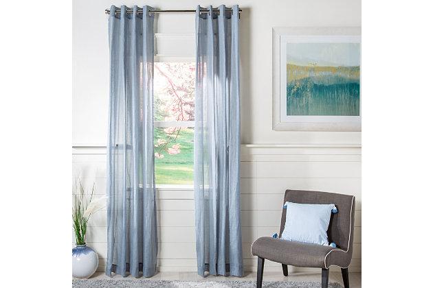 Safavieh Makena 52X96 Window Panel, Gray, large