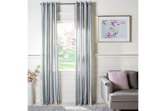 Safavieh Aytan 52X84 Window Panel, Gray, large