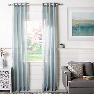 Safavieh Moony Curtain, Kenney Rod & Chicology Roller Shade Bundle, , large