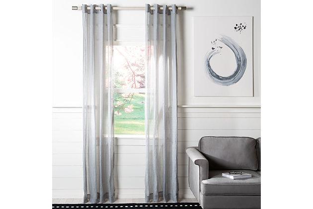 Safavieh Kannon 52X84 Window Panel, Gray, large