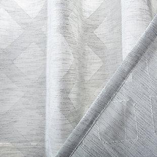 Safavieh Kenji 52X84 Window Panel, Gray, large