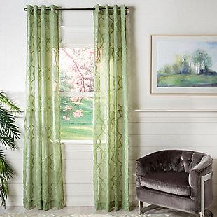 Safavieh Lenox 52X84 Window Panel, Green, large