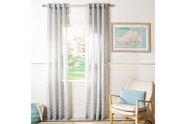 Safavieh Delancey 52X84 Window Panel, Gray, large