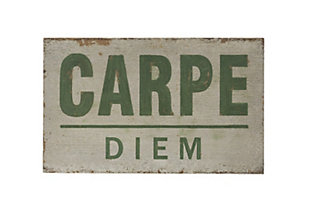 "25.5""W Distressed ""Carpe Diem"" Wood Wall Decor, , rollover"