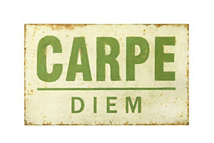 "25.5""W Distressed ""Carpe Diem"" Wood Wall Decor, , large"