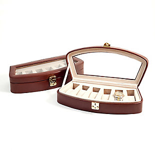 Bey-Berk Leather 6 Watch Case, , large