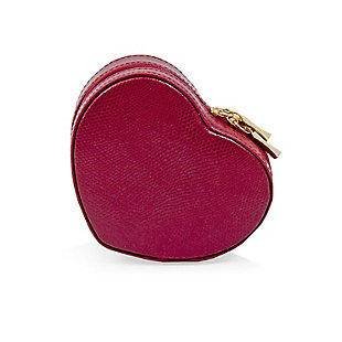 Bey-Berk Leather Small Heart Shaped Jewelry Box, , rollover