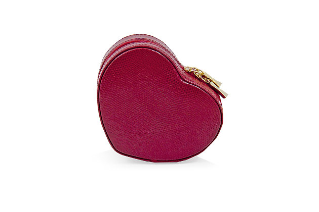 Bey-Berk Leather Small Heart Shaped Jewelry Box, , large