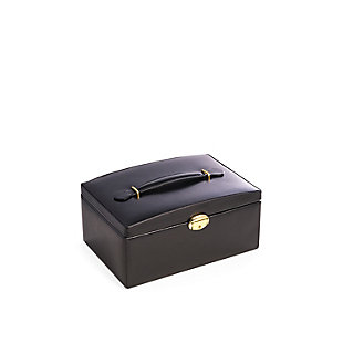 Bey-Berk Leather 2 Level Jewelry Box, , rollover