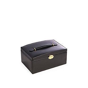 Bey-Berk Leather 2 Level Jewelry Box, , rollover
