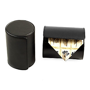 Bey-Berk Leather Single Travel Tie Case with Snap Closure, , rollover