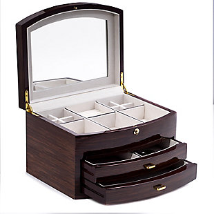 Bey-Berk Wood Jewelry Box, , large