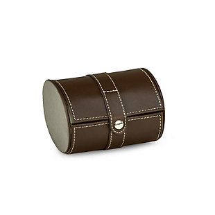Bey-Berk Leather Single Watch Travel Case with Snap Closure, , rollover