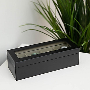 Bey-Berk Matte Wood 4 Watch Box, , large