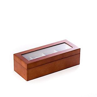 Bey-Berk Cherry Wood 4 Watch Box, , rollover