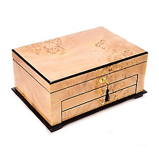 Bey-Berk Wood 3 Level Jewelry Box, , rollover