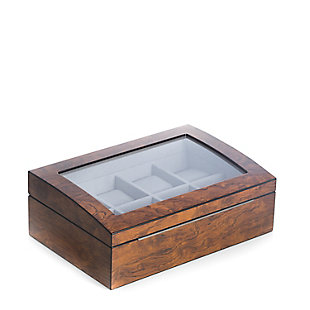 Bey-Berk Burl Wood 8 Watch Case, , rollover
