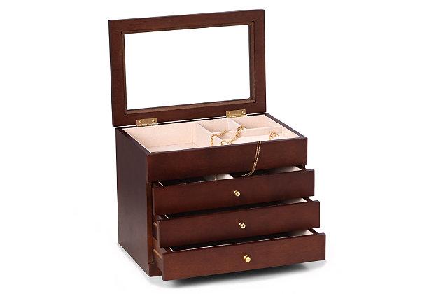 Bey-Berk Rosewood Jewelry Box, , large