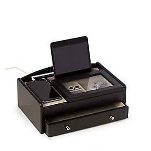 Bey-Berk Matte  Wood Valet Box, , large
