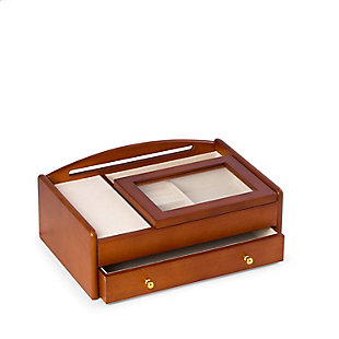 Bey-Berk Cherry Wood Valet Box, , rollover