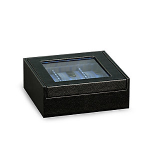 Bey-Berk Six Watch Case with Glass Top, , rollover