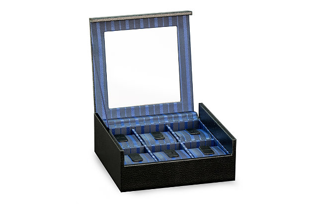 Bey-Berk Six Watch Case with Glass Top, , large