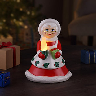 "Mr. Christmas  12"" Lit Nostalgic Ceramic Figure - Mrs. Claus, , large"