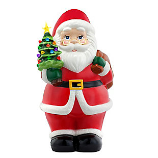 "Mr. Christmas  22"" Lit Nostalgic Ceramic Figure - Santa, , rollover"