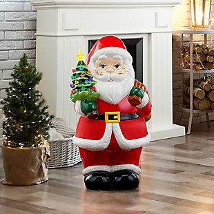 "Mr. Christmas  22"" Lit Nostalgic Ceramic Figure - Santa, , large"