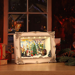 Mr. Christmas  Animated Shadow Box Scenes - Village, , large