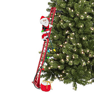 "Mr. Christmas  40"" Super Climbing Plush Santa, , large"